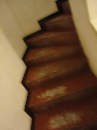 Le Terrage: corredor de acesso aos quartos
