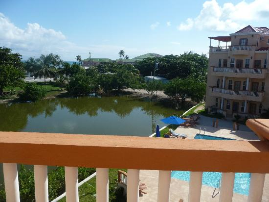 Ambergris Lake Villas: Looking south from the balcony