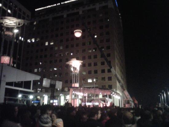 Raleigh Marriott City Center: New Year's Eve from front of hotel