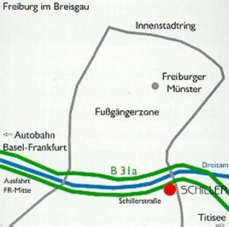 Hotel Schiller Freiburg: Map