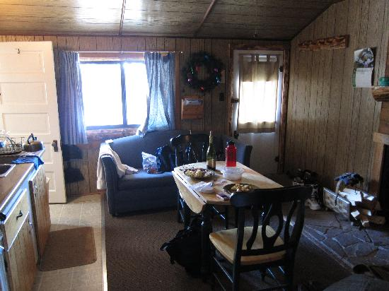"Riverbend Resort: Inside ""Brookie"" cabin."