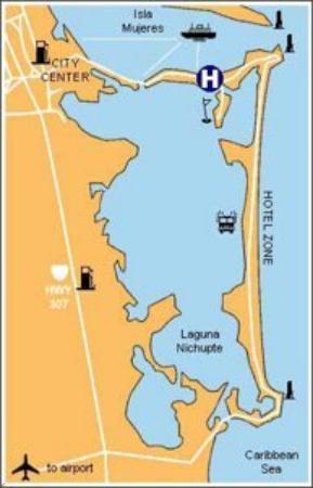 Maya Caribe Hotel: Map