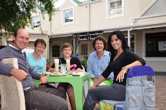 Gideon's The Famous Franschhoek Pancake House: Alan, Tyrone, Kyle, Gideon & Beverley
