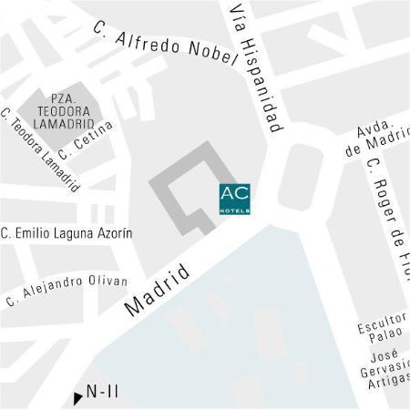 AC Hotel Zaragoza Los Enlaces: Map