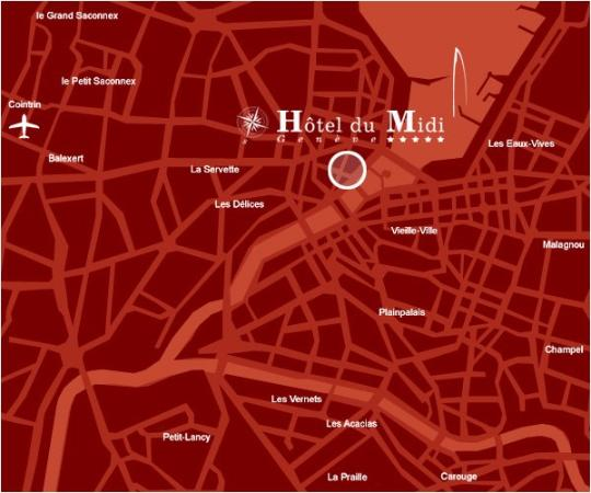 The New Midi Hotel: Map