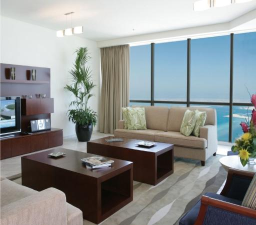 JA Oasis Beach Tower : Living Area
