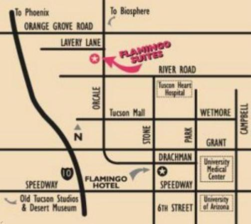 Flamingo Suites: Map