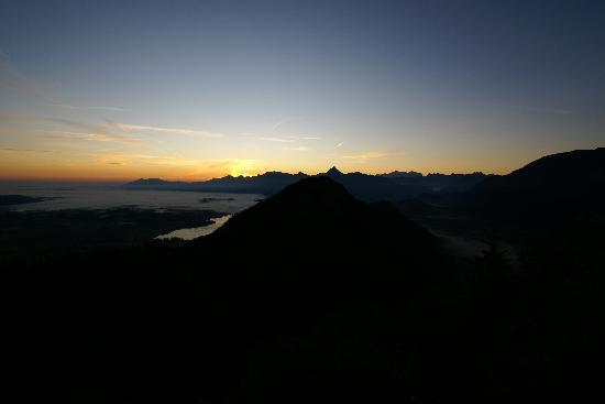 Burghotel Falkenstein: Sonnenaufgang