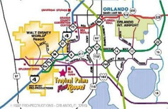 Tropical Palms Resort and Campground: Map