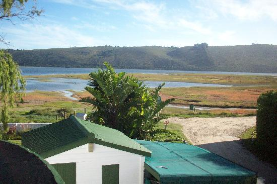 Point Lodge on the Water's Edge, Knysna Lagoon: View of lagoon from roof