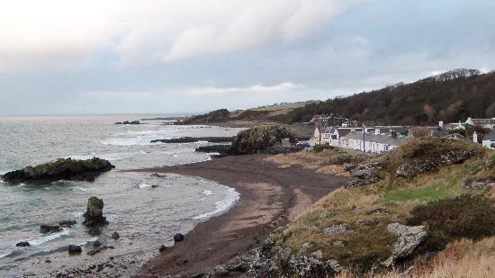Dunure Inn: View to the East from castle