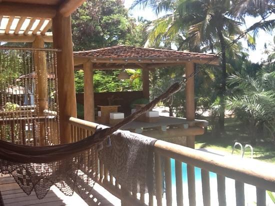 Pousada Aloha Brasil: varanda do quarto