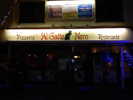 "This is ""Al Gatto nero"" on the Poole Road"