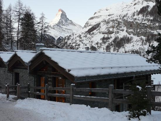 CERVO Zermatt: Our chalet and its amazing backdrop
