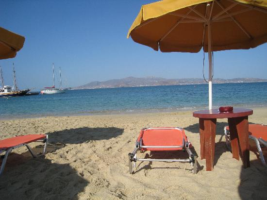 View from the deck of the Taverna