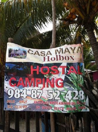 Casa Maya Holbox: camping hostal