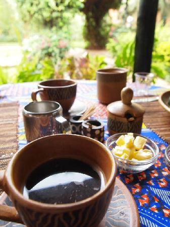 The Octagon Safari Lodge: coffee my love