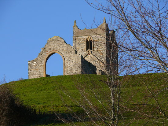 Burrow Mump: The ruined church on top