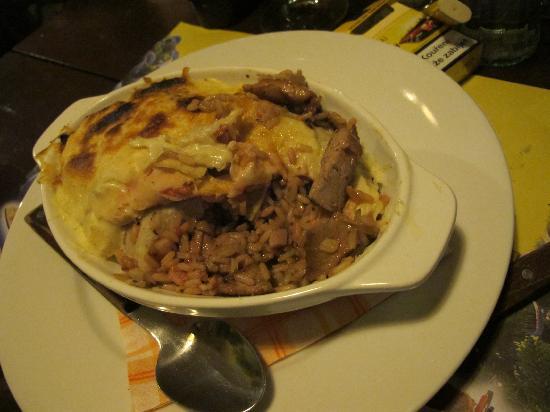 Havana Restaurant: pasticcio creolo con carne, riso e fagioli