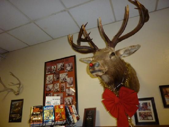 Wildhorse Cafe Rudolph the Red-Nosed Elk