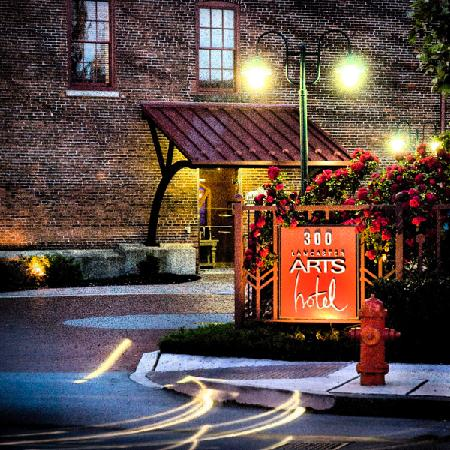 artist rendering-exterior Lancaster Arts Hotel