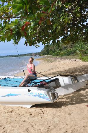 Casa Cayuco: The Hobie and beach out front