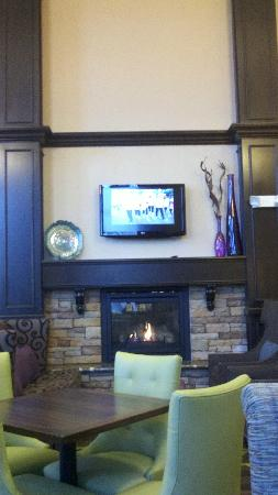 Hampton Inn & Suites Exeter: Fireplace