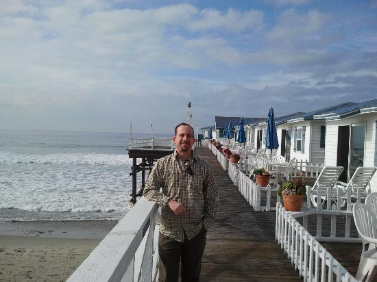 Crystal Pier Hotel & Cottages: More cottages and their decks are behind/west of me