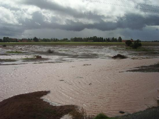 Riad Dar Nakhla: Land unter auf dem Weg nach Agadir nach 14 Stunden Dauerregen