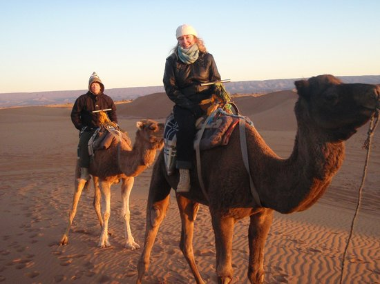 Mhamid Travel 4x4 Day Tours : Camel riding at sunrise