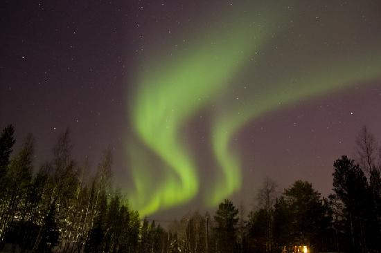 Levi, Finland: spectacular light display