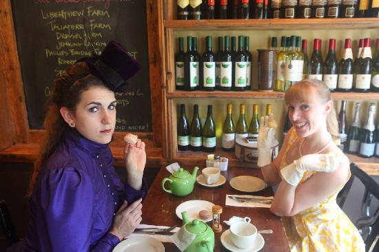 "Village TeaRoom : My friend and I having ""Tea for Two"""