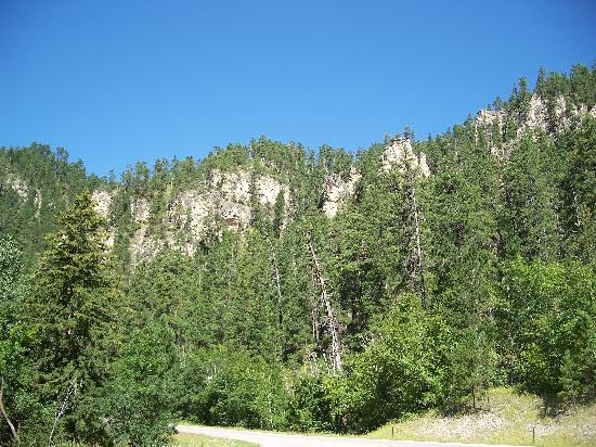 Spearfish Canyon: View in the canyon