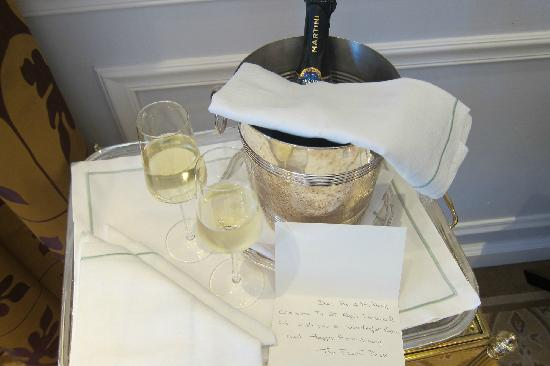 The St. Regis Florence: Very nice gesture waiting for us...