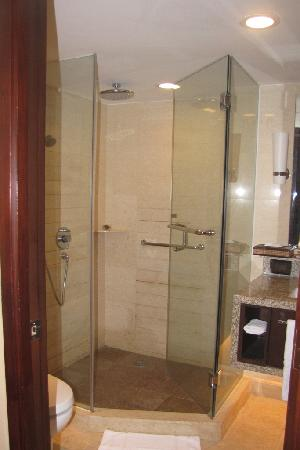 Shower w/ full length glass. - Picture of The Manila Hotel, Manila ...