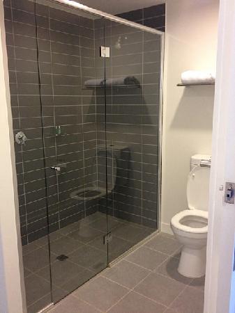Bathroom, MASSIVE shower (basin at other end out of shot ...