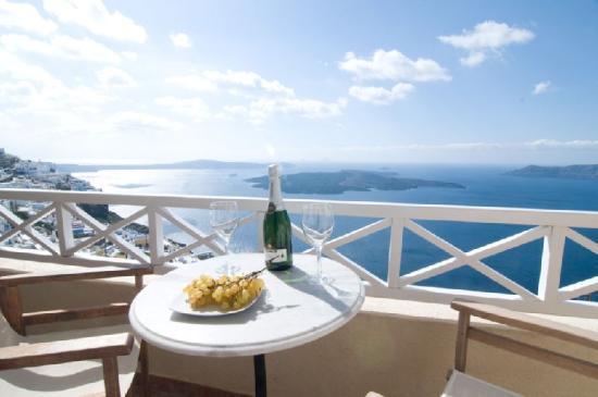 Villa Ilias Caldera Hotel: Exclusive Room-s Balcony