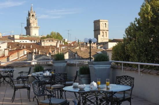 Hotel d'Europe: Crillon room terrace