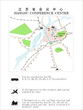 Zhongshan Hotel (Jiangsu Conference Center): Map