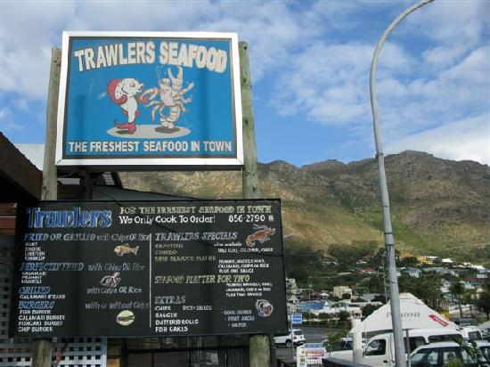 Trawlers: Sign of restaurant