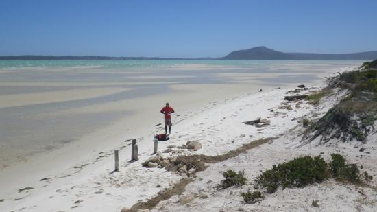 Kitespot im West Coast National Park, 17 miles south of Constantly Kiting. Perfect for downwinde