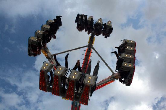 Ротерхэм, UK: The Fun Fair at the Rotherham Show