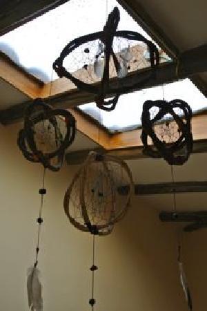 Casa de Wow!!!: dreamcatcher just below the skylight in our room