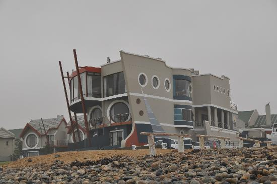 Beach Lodge Swakopmund: External view from beach of hotel