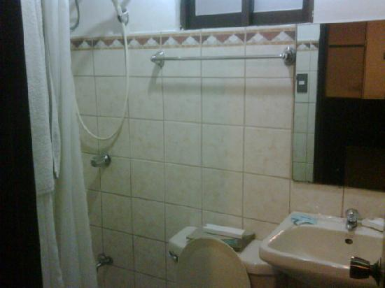 The Orange Place Hotel Quezon City: toilet and shower was clean but rather cramped