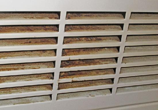 Premiere Classe Angouleme Sud La Couronne: Filthy air vent right next to the bed