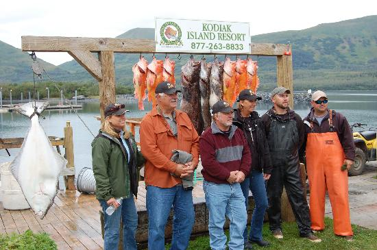 Alaska's Kodiak Island Resort: Larry Csonka, Audrey, Smokee Joe and his wife