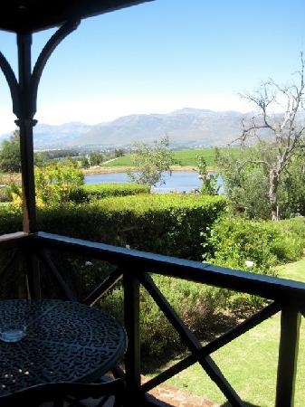 Angala Boutique Hotel and Guest House: View from our porch looking over irrigation dam