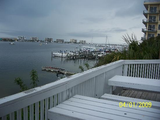 Gilligan's Seafood: view to the west from the deck