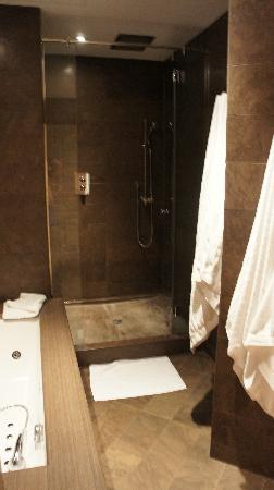 El Palace Hotel: Separate rain shower and great tub